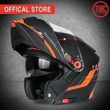 TORC Motorcycle helmet FLIP UP helmet motorbike  motorcross full face helmet capacete cascos para moto ECE T271 racing helmet недорого