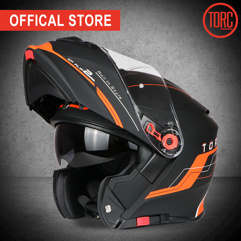 TORC Motorcycle Helmet FLIP UP Helmet Motorbike Motorcross Full Face Helmet Capacete Cascos Para Moto ECE