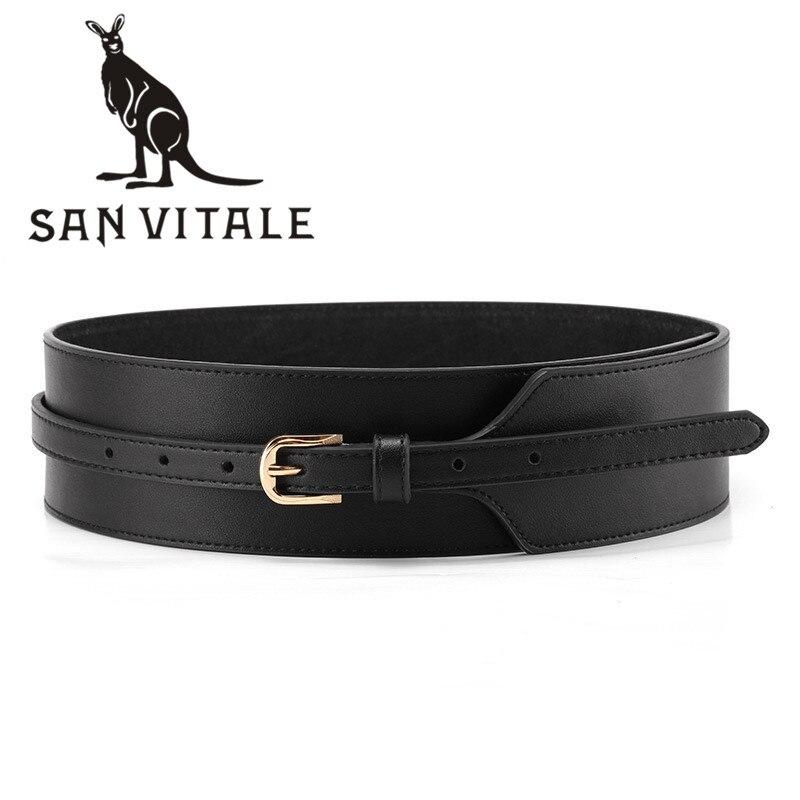 Belts Women Cummerbunds Leather For Jeans Girdle Top Quality Stretch Cinturones De Hombres Buckles For Dress Luxury Brand Golf