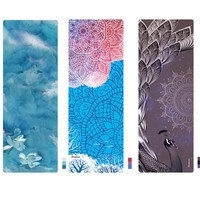 Professional Suede Natural Rubber Yoga Mat 3.5MM Thick Anti Slip Printed Pilates Exercise Mat Sport Mats Dance Fitness Pad