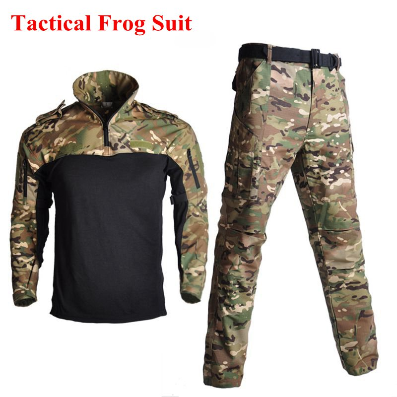US Military Army Training Uniform Camouflage Frog Suit Tactical FG Long-sleeved Frog Suit Outdoor Hunting Clothes Ghillie SuitUS Military Army Training Uniform Camouflage Frog Suit Tactical FG Long-sleeved Frog Suit Outdoor Hunting Clothes Ghillie Suit