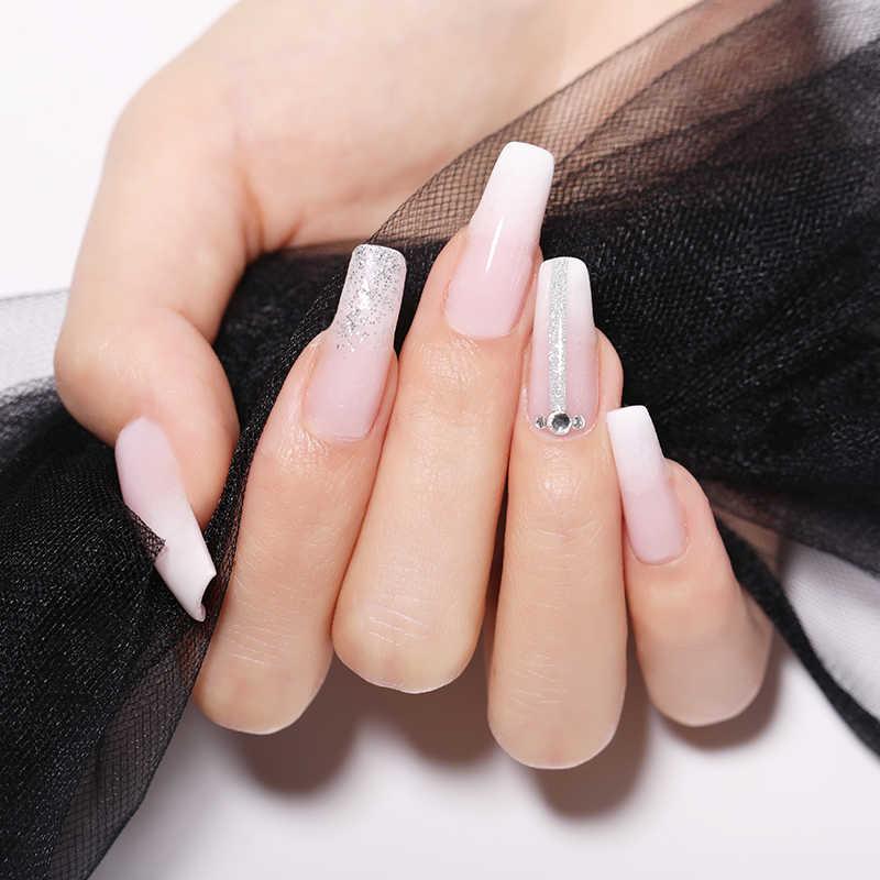 UR SUIKER Poly UV Gel Kits Franse Nail Art Clear Extention Nail Tip Vorm Crystal Builder UV Gel Slice Borstel nail Gel Set