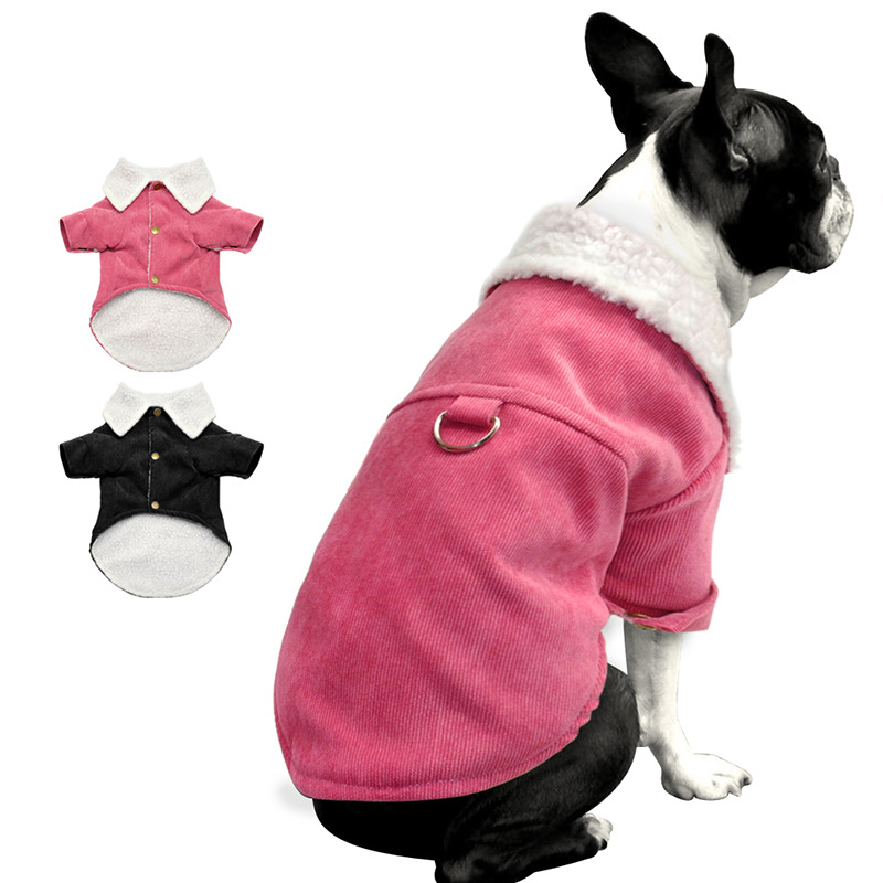 Corduroy French Bulldog Dog Coat Pet Dog Clothes For Small Dogs Chihuahua Jacket Costume Apparel Winter Puppy Clothing Outfit ...