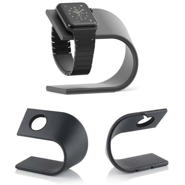 U-Shape Aluminum Alloy charger Dock for Apple watch 42mm 38mm Desk Cradle Charging Stand Holder for iWatch