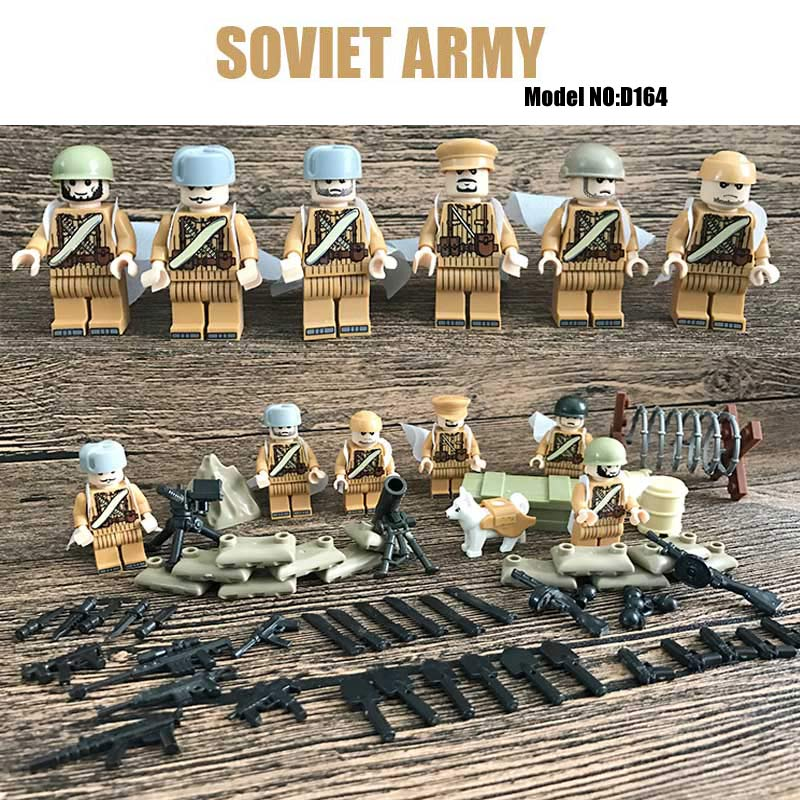 Oenux WW2 Soviet Army Figure Russian National Army The Battle Of Moscow Military Model Building Block Brick Kids Educational Toy ninja attack of the morro dragon dark action figure model building block brick toy minifigure ninjagoed legoeddis