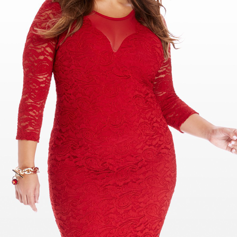 Merched Sexy Mesh Patchwork Party Dress Women Lace Up Straight Mini Dress  Cut Out Vestidos de fiesta 5XL 6XL Plus Size Evening-in Dresses from Women s  ... 0414ad0f2151