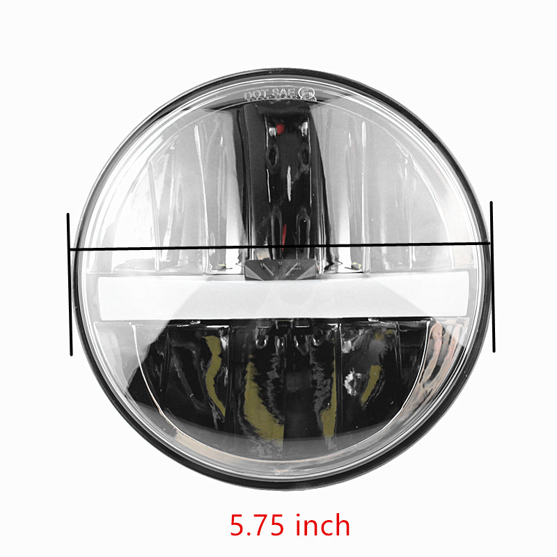 1 Pair 5.75 Inch LED Headlights For Lada 4x4 Urban With White DRL Headlamp For Jeep Wrangler Land Rover Defender
