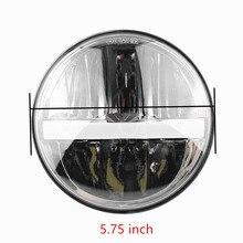 5,75 светодиодный светодиодные фары Белый DRL свет фар запасная фара для индийский разведчик гладить 883 лампы мотоциклов Sportster