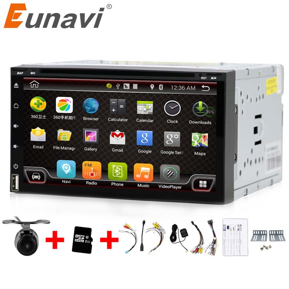 Eunavi Quad Core 2 din android 6 0 car dvd player universal 2din GPS Navigation audio