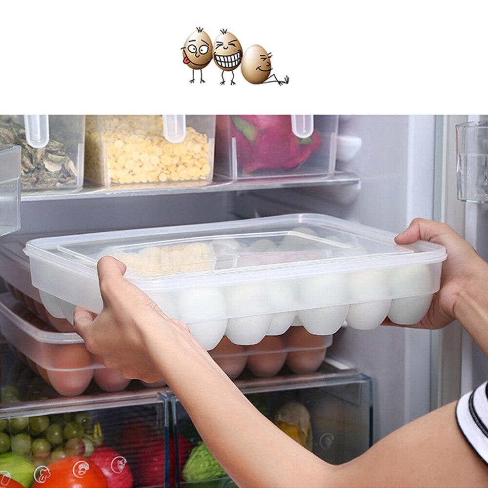 Claro 34 red de capa única caja de huevo cesta organizador huevo de plástico caja de almacenamiento de contenedores de alimentos de cocina caso huevo caja