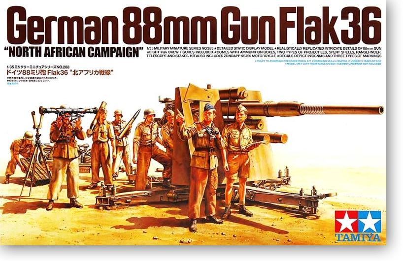 1/35 Germany 88 Mm Flak 36 Air Defence Gun North Africa