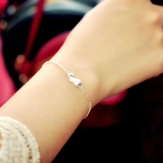 Women's 925 Sterling Silver Whale Bracelet 3