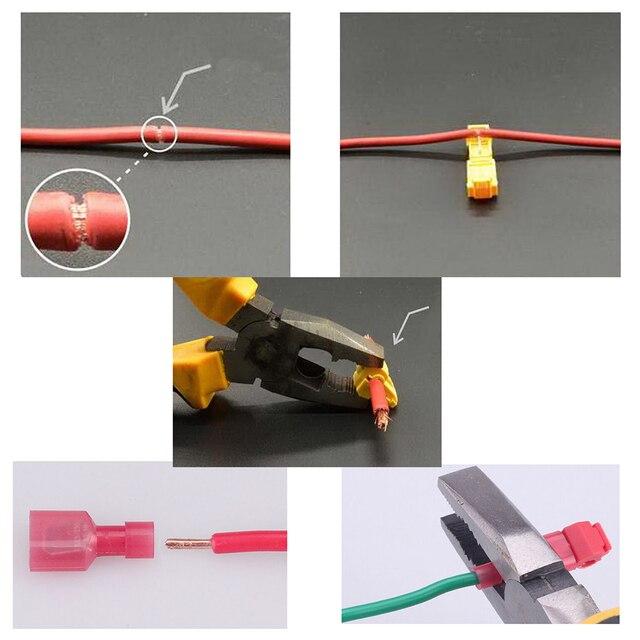 30pcs T-Tap/Male Female Insulated Wire Quick Splice Terminal Connectors Set Kits