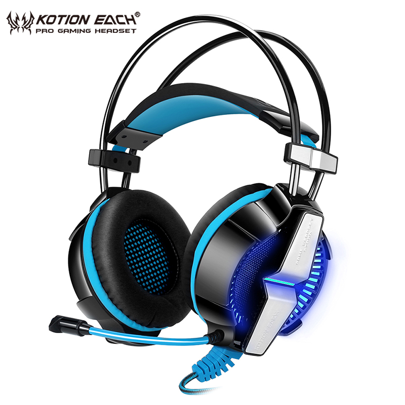 KOTION EACH G7000 USB Gaming Headphones With Microphone 7.1 Surround Sound Stereo Vibration Headset Bass For PC Computer sades a60 pc gamer headset usb 7 1 surround sound pro gaming headset vibration game headphones earphones with mic for computer