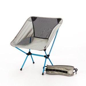 Image 1 - נייד מושב קל משקל דיג כיסא אפור קמפינג שרפרף מתקפל חיצוני ריהוט גן חדש Al נייד קל במיוחד כיסאות