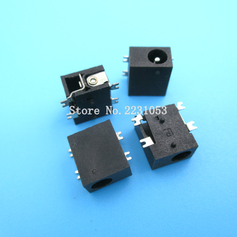 10PCS/LOT DC-033 1.3mm 4smd DC Power Female Outlet Interface Socket Jack DC033 SMD 4 Pins