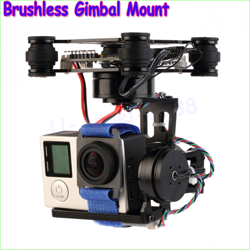 1pcs Newest 3-Axes Brushless Gimbal Mount with 32bit Storm32 Controller For Gopro 3 4 for Phantom Wholesale Dropship wholesale 1pcs mwc multiwii standard se v2 5 flight controller for multicopter quad x gimbal dropship