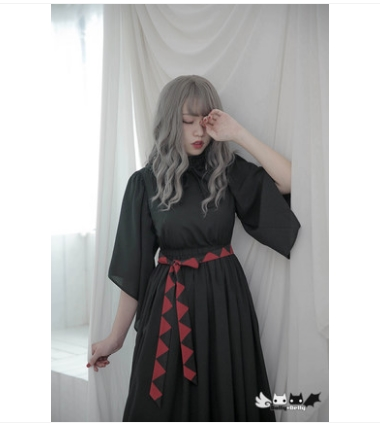 Collier Cool Gothique Dolley Delly 0018 Princesse Noir Op Lolita Sorcière Robe Nuit Fille Sweet Longue Kuanxiu D'origine dolly n1qP8