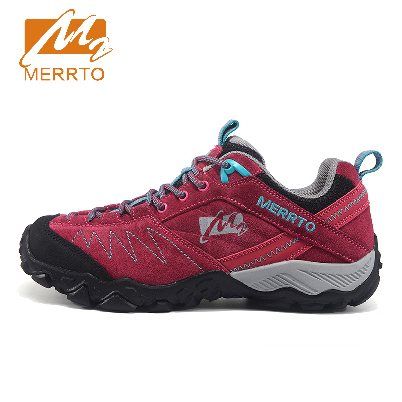 2018 Merrto Womens Walking Shoes Non-slip Breathable Outdoor Sport Shoes For Women Color Red Purple Grey Free Shipping MT18631 2018 merrto mens walking shoes breathable outdoor sports shoes for men color brown grey red khaki blue free shipping mt18623