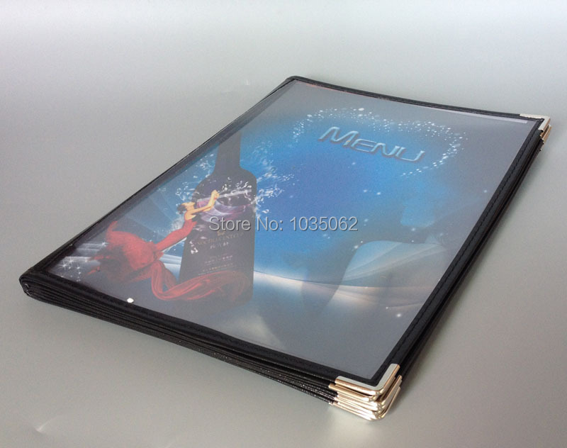 8 Sheet Panel Transparent Menu Cover 16 views clear menu book набор чашек 2 предмета 0 2 л berghoff studio лаймовые 1106840