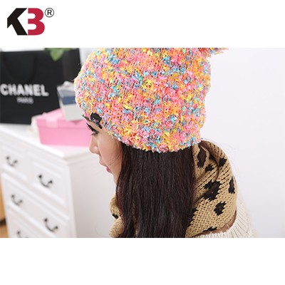 Double Sided Cuffed Ball Top Winter Knit Hat Established Ball Top Winter Knit Hat (3)