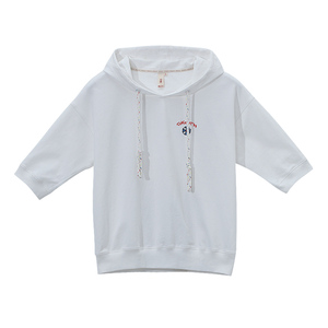 Image 5 - Toyouth, 2019, verano, camisetas con capucha, camiseta bordada de media manga, camiseta femenina Rosa Blanca, Camiseta básica para mujer, camisetas casuales femeninas