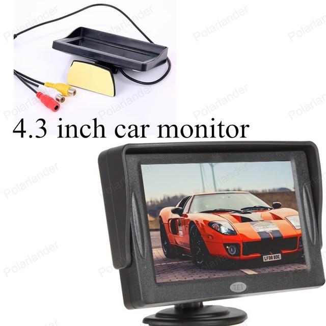 TFT a Cores de alta resolução de 4.3 polegada Dobre-capaz de assistência sensor de estacionamento LCD carro digital monitor de monitor do carro para a parte traseira câmera de visão
