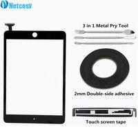 Netcosy сенсорный экран планшета спереди touch Панель Стекло объектив для iPad мини 1 2 + сенсорный экран лента + клей + Прай Инструменты Замена