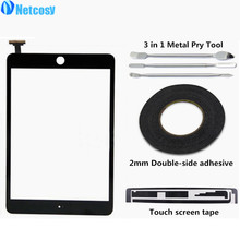 Фотография Touchscreen Digitizer Front Touch Panel Glass Lens for iPad Mini 1 2 +Touch screen tape+adhesive+pry Tools Replacement Parts