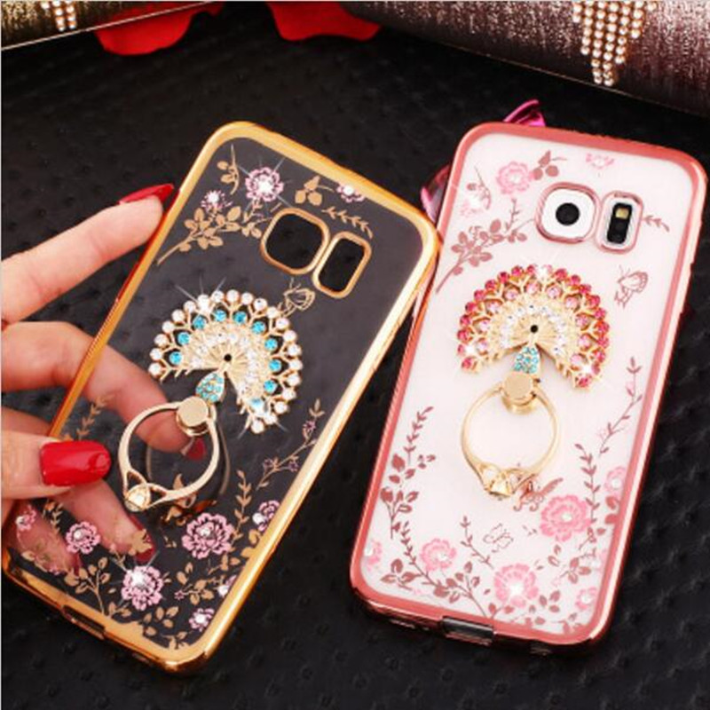 Luxury Secret Garden Flowers Rhinestone Diamond Phone Case