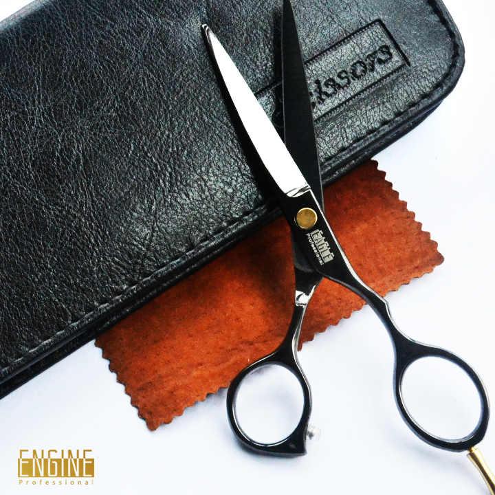 Tesoura de corte de cabelo profissional tesouras do cabelo de titânio preto conjunto de alta qualidade hair salon produto venda quente presente para você