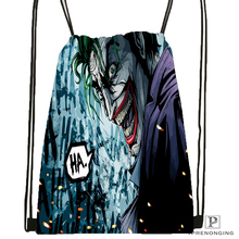 Custom The Joker Batman Drawstring Backpack Bag Cute Daypack Kids Satchel (Black Back) 31x40cm#180531-04-28