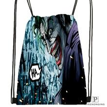 Custom The Joker Batman Drawstring Backpack Bag Cute Daypack Kids Satchel (Black Back) 31x40cm#180531-04-28
