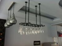60*25CM Fashion Bar Red Wine Goblet Glass Hanger Holder Hanging Rack Shelf