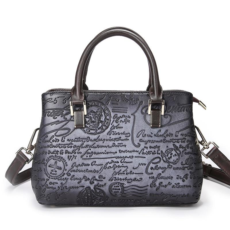 Baoersen vintage Women High Quality PVC Handbags Ladies Retro Elegant Shoulder Messenger Bag luxury handbags women bags designer