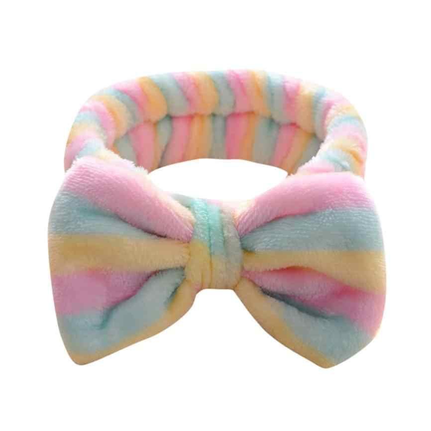 Милая Женская Мягкая повязка для волос с бантиком и бантиком, банный бандаж MAR6
