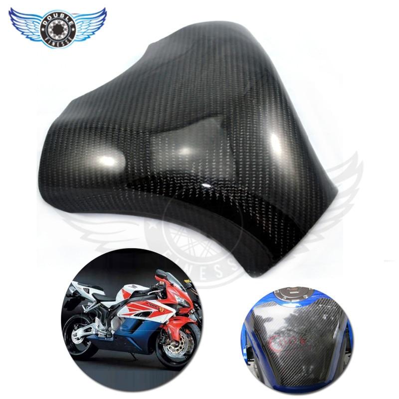 Accesorios de la motocicleta de color negro de fibra de carbono del tanque de co