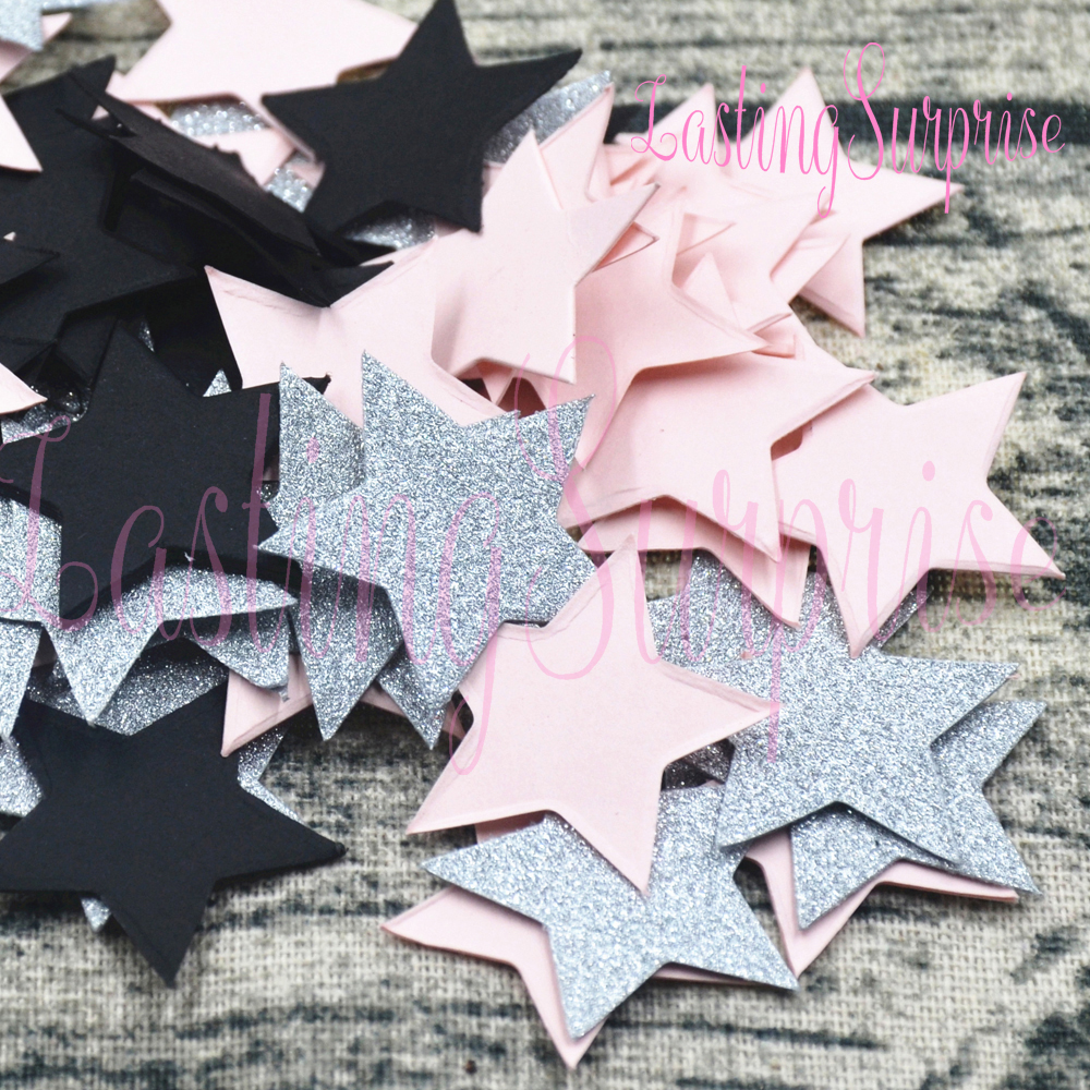 100% Quality Lasting Surprise Star Round Glitter Paper Confetti Table Decoration Mariage Baby Shower Favors Colourful Wedding Birthday Party Event & Party