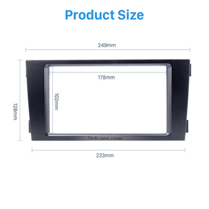 Image 3 - Seicane Car Double Din Stereo Fascia Panel Adaptor DVD Frame Trim For Audi A6 C5 Refit Bezel Marco Dashboard Installation Kit