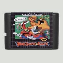 ToeJam et Earl 16 bits MD Carte de Jeu Pour Sega Mega Drive Pour Sega Genesis