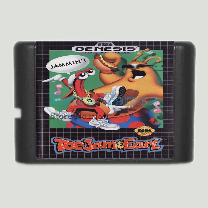 Usado, ToeJam y Earl 16 bits Tarjeta de Juego MD Para Sega Mega Drive Para Sega Genesis segunda mano  Se entrega en toda España