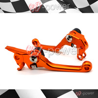 Motocross Dirt Bike CNC Billet Aluminium Pivot Bremse Kupplungshebel Fur KTM 450 XCR W/EXC/EXC R/SX /SX F/SX R/XC/XC F Orange