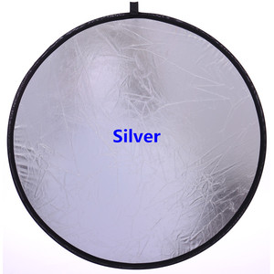 """Image 3 - CY 2 in 1 Gold an silver 32""""/80cm Factory direct sale Handhold Multi Collapsible Portable Disc Light Reflector for Photography"""