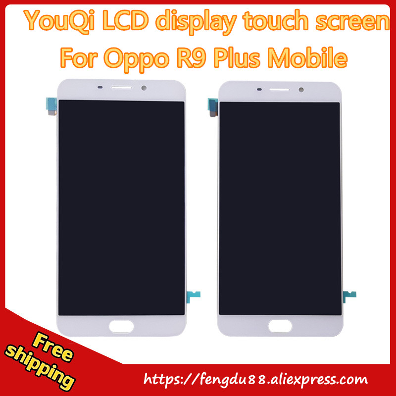 YouQi New LCD Display Touch Screen Digitizer Panel Glass Lens Sensor Assembly For OPPO R9 R9Plus Plus Replacement Parts Repair P