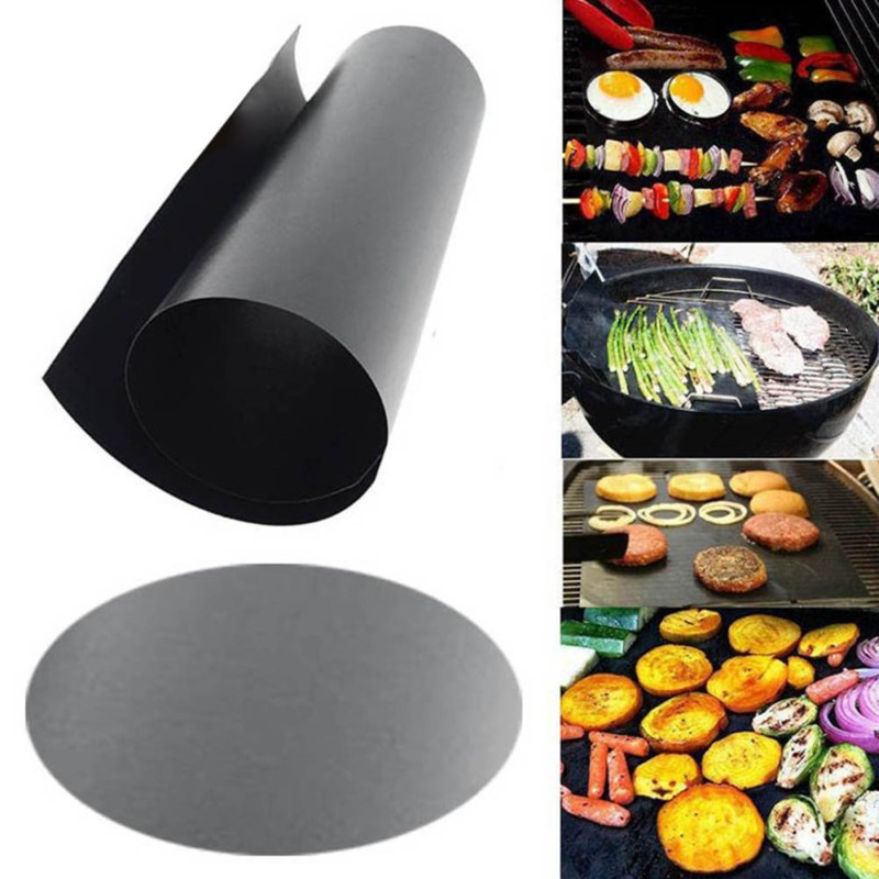 Reusable Non-Stick BBQ Grill Mat Pad Baking Sheet Meshes Portable Outdoor Picnic Cooking Barbecue Mat Cooking Tools Heat Resist