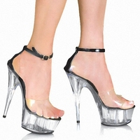15cm Women Fashion Platform Sandals Sexy Clubbing Exotic Dancer Shoes 6 Inch Strappy Crystal Shoes Made
