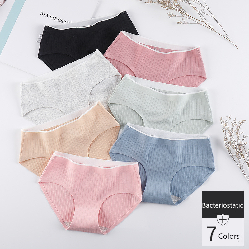 Women's Underwear Cotton Panties Breathable Bacteriostatic Girl Briefs Ladies Sexy Lingerie Female Underpants 2019 Dropshipping