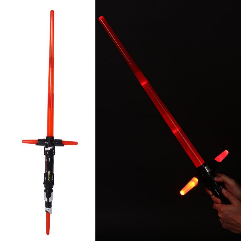 2016 NEW Cosplay  The Force Awakens Kylo Ren Electronic Lightsaber with  LED Light&Sound Sword Weapon Toy electronic damping force controller