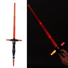 2016 NOUVEAU Cosplay Star Wars The Force Éveille Dirige Kylo Ren Sabre Laser Électronique avec LED Light & Sound Épée Arme Jouet