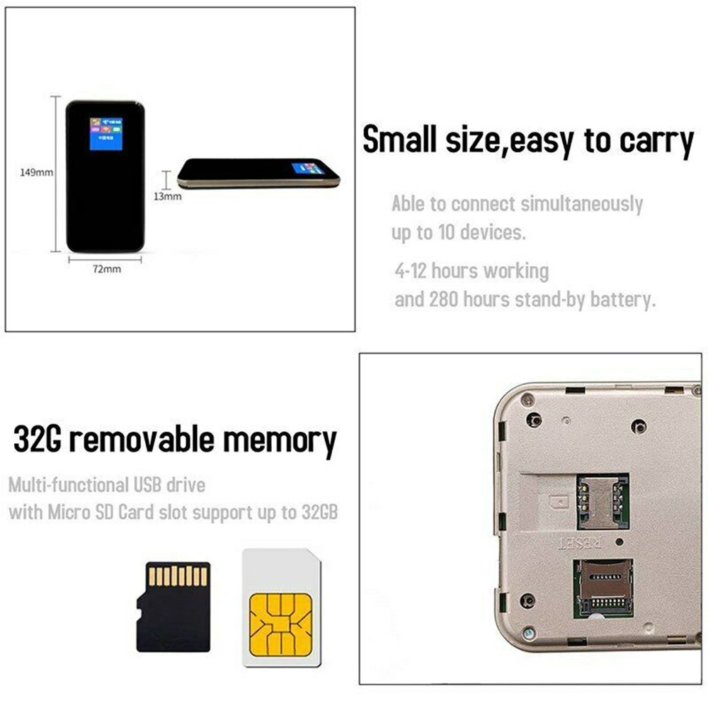 Image 3 - FDD LTE GSM 4G Wifi Router Portable Global Unlock Dongle Wireless Modem SIM Card Slot 8800 MAh-in Wireless Routers from Computer & Office